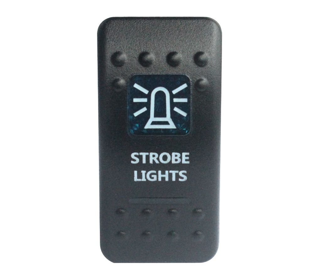 STROBE LIGHTS Rocker Switch Carling ARB Narva Style BLUE LED Heaps of Designs