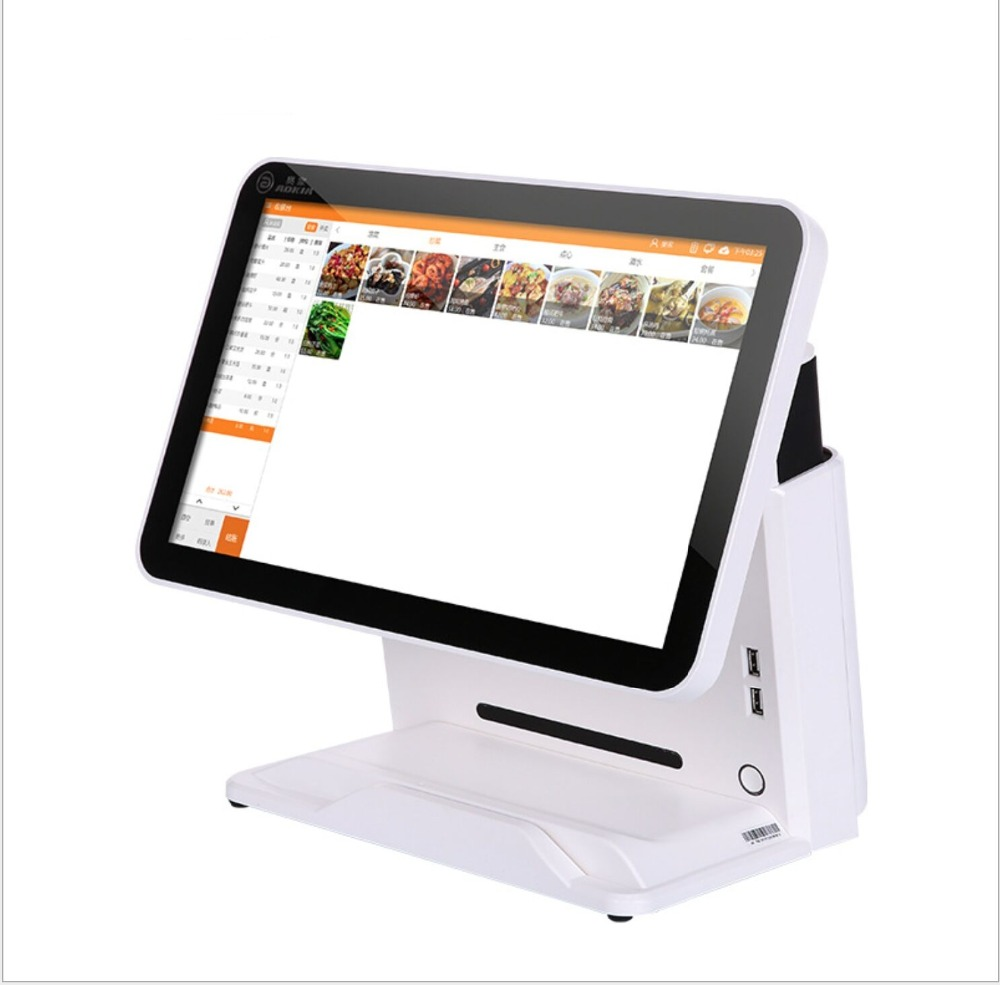 15.6 Inch FULL HD Flat Panel Capacitive Touch POS Terminal Dual Display Win 10