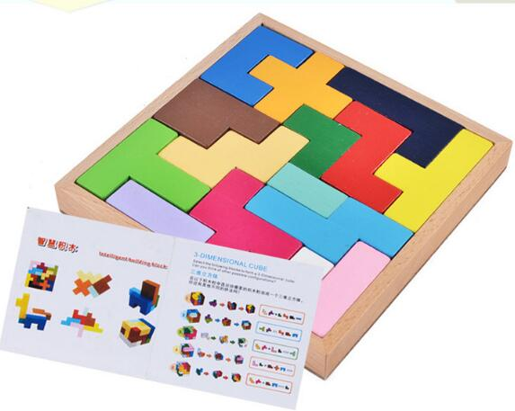 Montessori Cube Puzzles Wooden Puzzle Children Wood Intelligence Montessori Educational Toy Russian Kids Toys MG86 electric spider robot toy diy educational intelligence development assembles kids children puzzle action toys kits