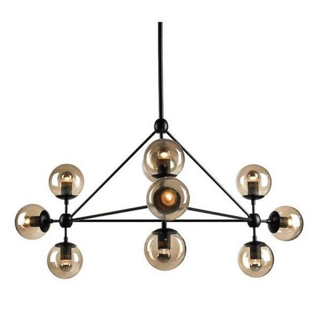 aliexpress koop 10 lights hanglampen glas bal hanglamp voor