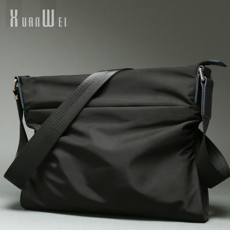 Fashion Black Men Bags Casual Man Shoulder Bags Soft Nylon Briefcases Canvas Bags Businessman Crossbody Messenger