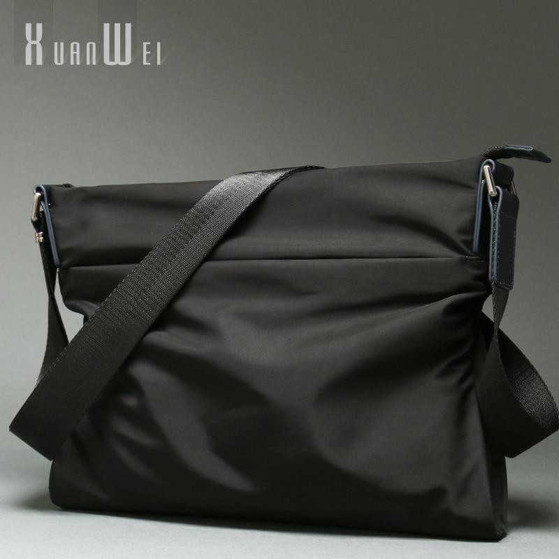 الأزياء الأسود الرجال أكياس عارضة رجل حقائب كتف لينة النايلون حقائب حقائب من القماش رجل الأعمال حقائب ساعي مموهة (XW88313)-في حقائب كروسبودي من حقائب وأمتعة على  مجموعة 1