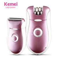 2 In 1 110 220V Electric Rechargeable Women Epilator Beard Shaver Depilador For Face Body Arm