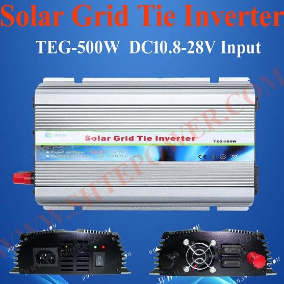 DC 12V 24V to AC 110V 120V 220V 230V Best Grid Tie Solar Inverter 500W hot sale dc 12v 24v 1000w solar tie grid inverter for 230v country