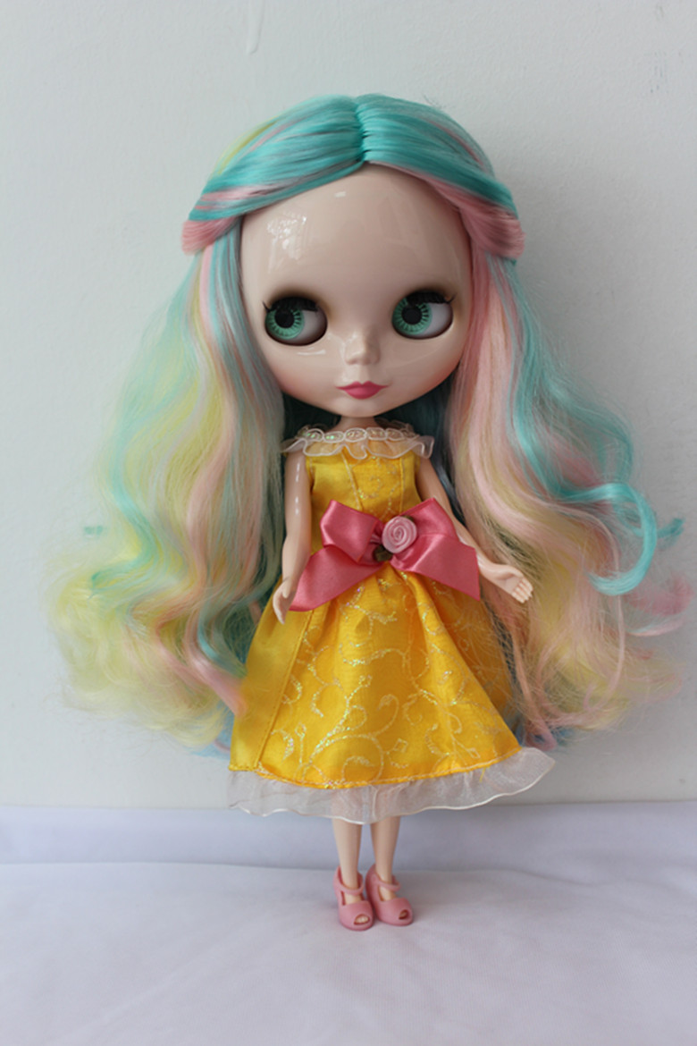Free Shipping big discount RBL-165DIY Nude Blyth doll birthday gift for girl 4colour big eyes dolls with beautiful Hair cute toy free shipping bjd joint rbl 415j diy nude blyth doll birthday gift for girl 4 colour big eyes dolls with beautiful hair cute toy