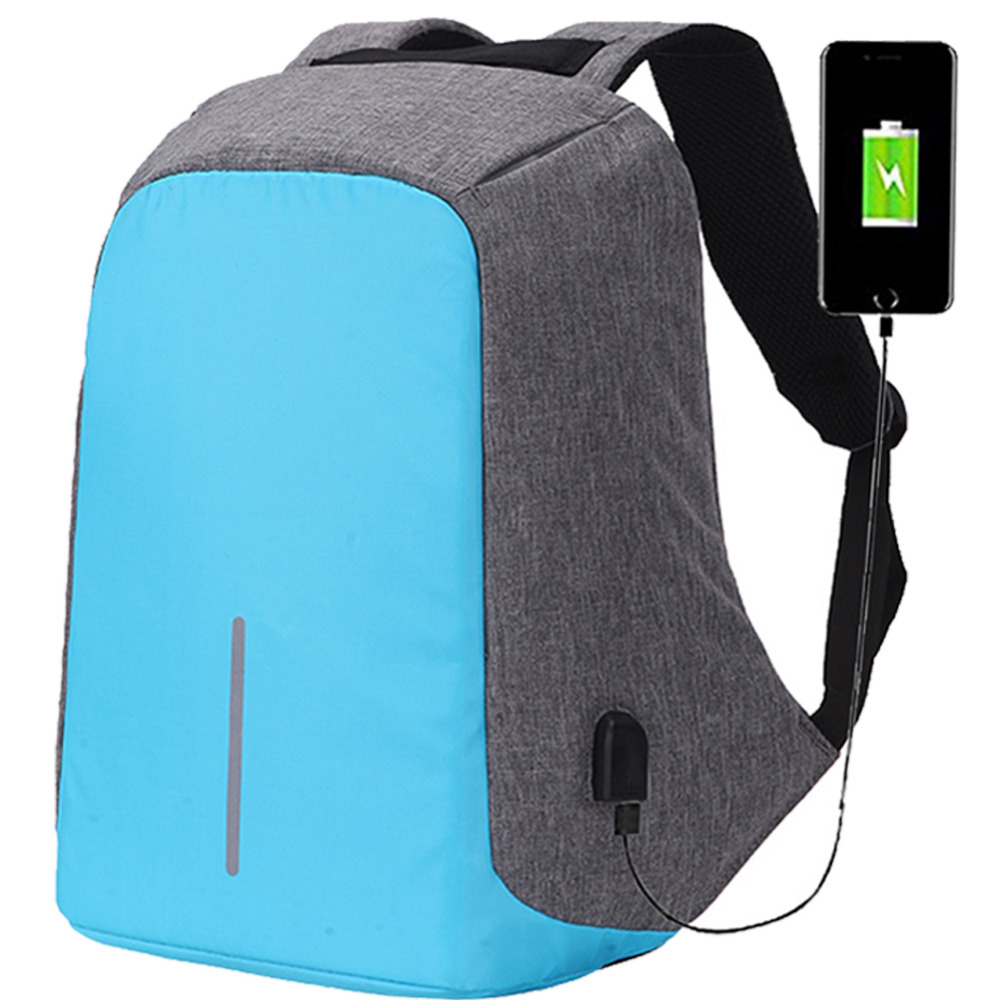 17.3 17 15 15.6 inch Laptop Bag Anti Theft Backpack With Usb Charging School Notebook Bag Men Oxford Waterproof Travel Backpack