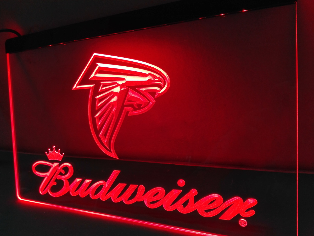 LD292  Atlanta Falcons LED Neon Light Sign Home Decor Crafts(China)