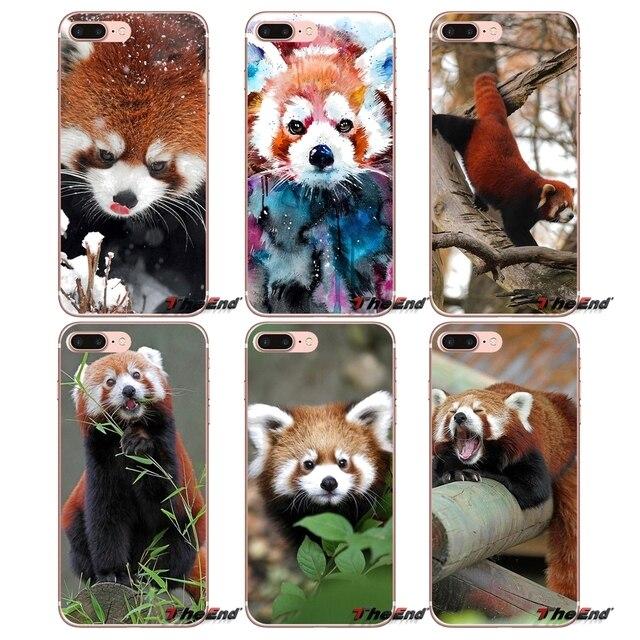 Маленькая панда печати плакатов Мягкий силиконовый чехол для iPhone X 4 4S 5 5S 5C SE 6 6 S 7 8 плюс samsung Galaxy J1 J3 J5 J7 A3 A5 2016 2017