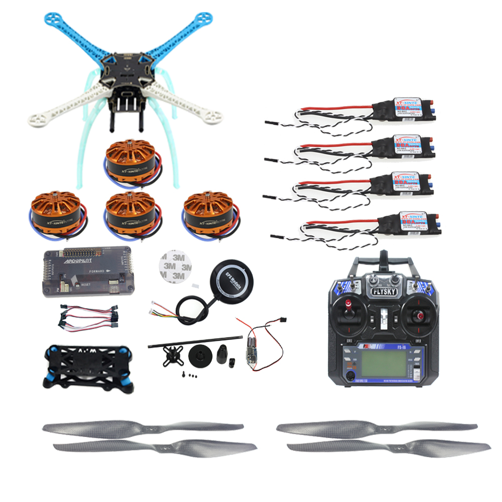 JMT APM2.8 DIY GPS Drone 500mm Multi-Rotor with 700KV Motor 30A ESC 6CH Transmitter NO Battery Charger