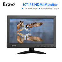 Eyoyo 10 inch HDMI TV Monitor Portable Kitchen IPS LCD Screen Display USB Input Remote Control CCTV Camera Monitor