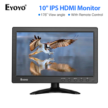 Eyoyo 10 inch HDMI TV Monitor Portable Kitchen IPS LCD Screen Display USB Input Remote Control CCTV Camera