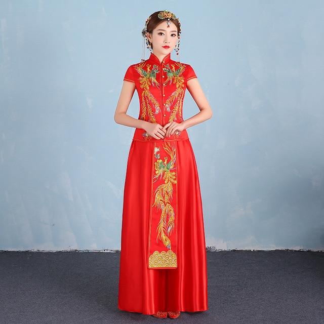 2017 Phoenix Stickerei Braut Moderne Qipao Frauen Traditionellen ...