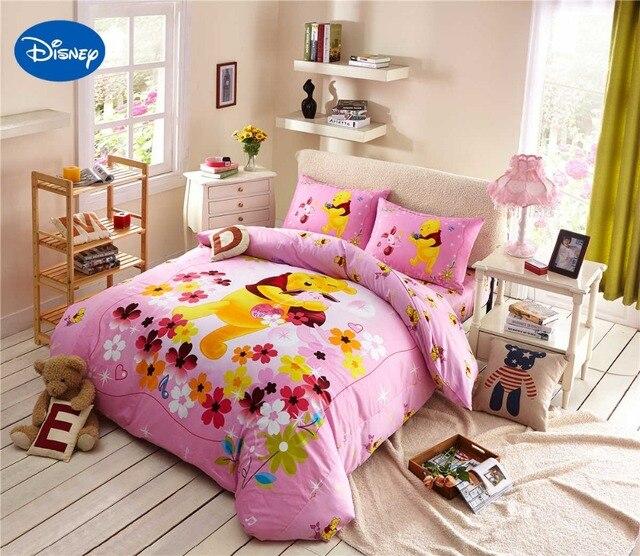 Cartoon Disney Afdrukken Beddengoed Set Katoen Roze Kleur Winnie de ...