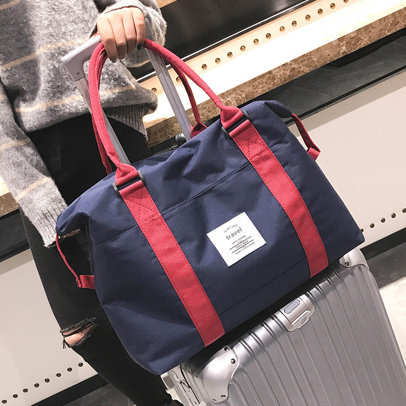 RUPUTIN Travel Abroad Boarding Bag Large Capacity Hand Luggage Shoulder Bag Storage Clothes Bag Trolley Case Oxford Travel Bag