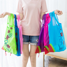 60PCS / LOT Strawberry Foldable Green Environmental Storage Bag Reusable Tote Pouch  Shopping