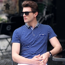 New men's Polo Shirt 2017 Summer Fashion Striped High Quality Plus Size Business Casual Polo Shirt Men 12 Color M~3XL C15E18209