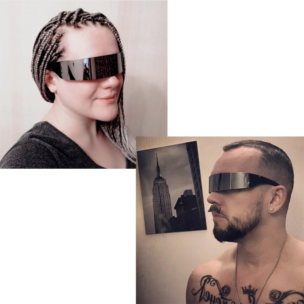 6f547a3c40 VBIGER Ladies Mens Black Frame Wrap Sunglasses One Piece Shades Flat ...