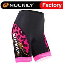 Nuckily summer time Women'S Moisture Wicking 16mm pink foam pad Cycling Short  GB009