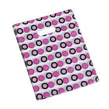 HOT 100Pcs Ziemlich Mini Mixed Muster Kunststoff Schmuck Geschenk Tasche Einkaufstasche 20*15CM Stile: 3