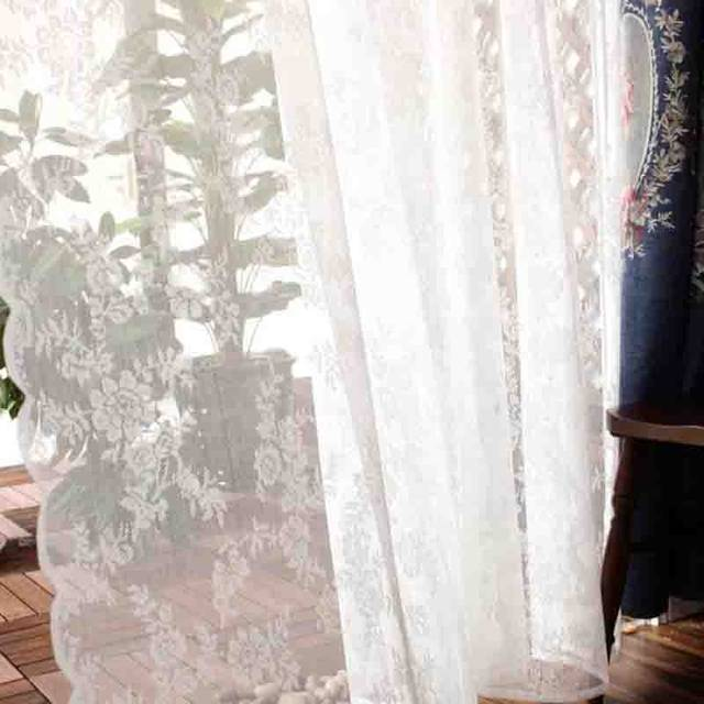 Online Shop Lace Window Curtains Panels Cheap European Luxury Window
