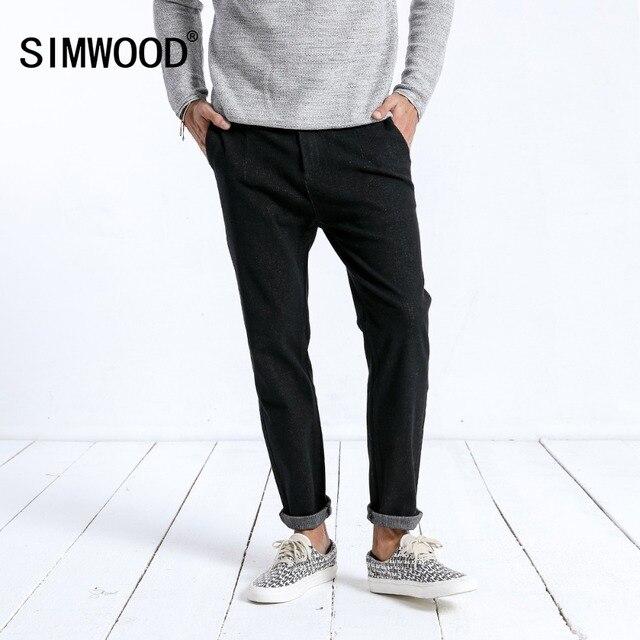 SIMWOOD 2019 Winter Neue Jeans Männer Mode Slim Fit Ankle Länge Hosen Dark Gewaschen Hosen Hohe Qualität Marke Kleidung 180397
