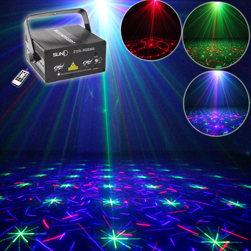 Remote Control RGB Laser Light Show Projector Red Green Blue DJ Disco Stage Effect Lighting For Club Wedding Family Party new mini red blue line pattern gobo remote laser projector dj club light dance bar party xmas disco effect stage lights show b55
