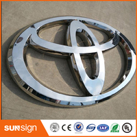 Custom Outdoor Chrome Vacuum Forming Acrylic Backlit LED Car Signage