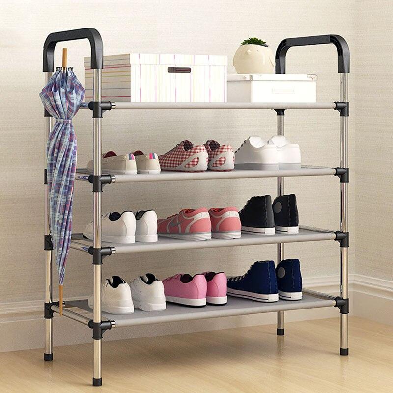 Новое поступление нетканых материалов несколько слоев шкаф для обуви с поручнями легкими полка для хранения Организатор Стенд держатель держать комнату аккуратно
