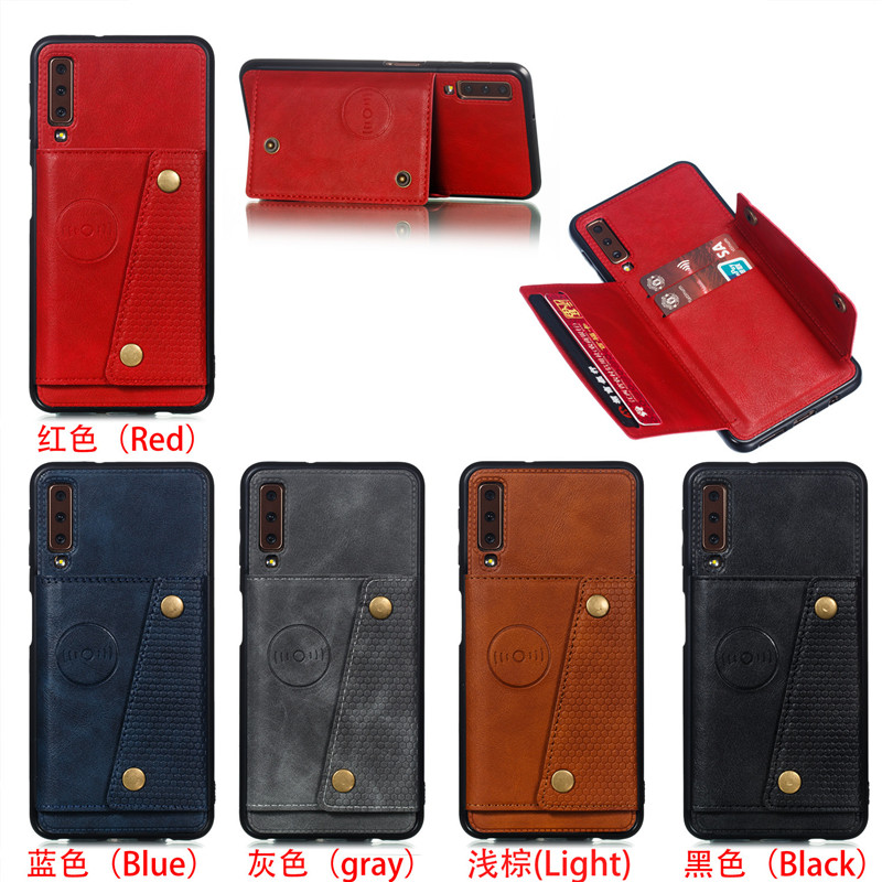 Wallet PU Leather Stand Silicone Phone Case For Samsung Galaxy S8 S9 S10 Plus Note 10 Wallet PU Leather Stand Silicone Phone Case For Samsung Galaxy S8 S9 S10 Plus Note 10 A6 A7 J4 J6 Plus 2018 Card Slot Flip Cover