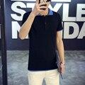 Летний стиль, Camisa хлопок рубашки поло + с коротким рукавом поло ральф мужчины, Классический твердые вершины, M - 5 XL