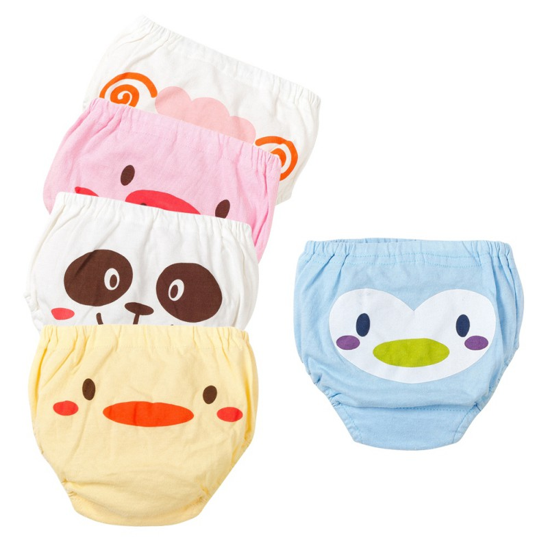 5 Pcs Children Boy Girl Panties Cotton Cute Cartoon Animal Pattern Soft Underwear Baby Panties 0-4Y
