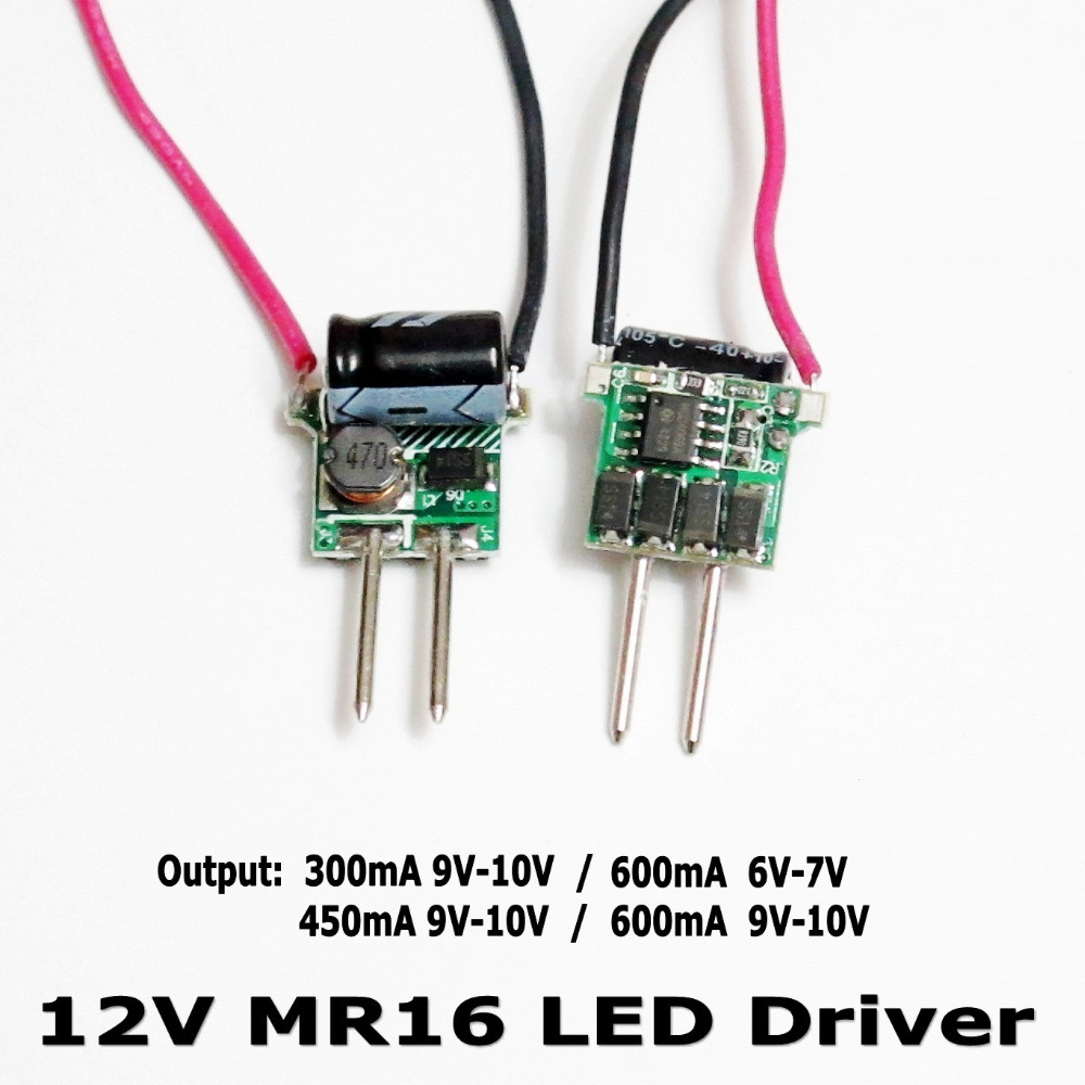 Led Driver Circuit 3w 300ma Triac Dimmable Constant Current Buy 5 Pcs Mr16 12v Low Voltage 450ma 600ma