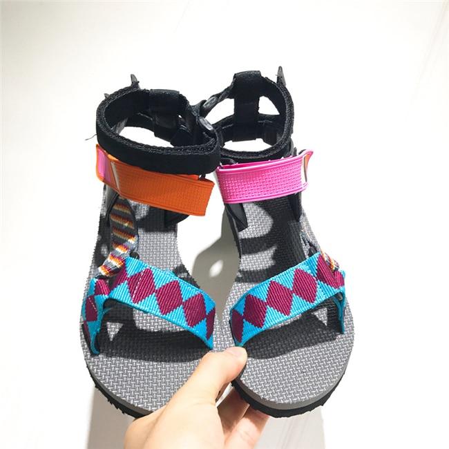 Offen Monmoira Farbe Patchwork Flachen Sandalen Frauen Klett Plattform Sandalen Frauen Sommer Geometrische Frauen Sandalen Swc0285 GüNstige VerkäUfe Frauen Schuhe
