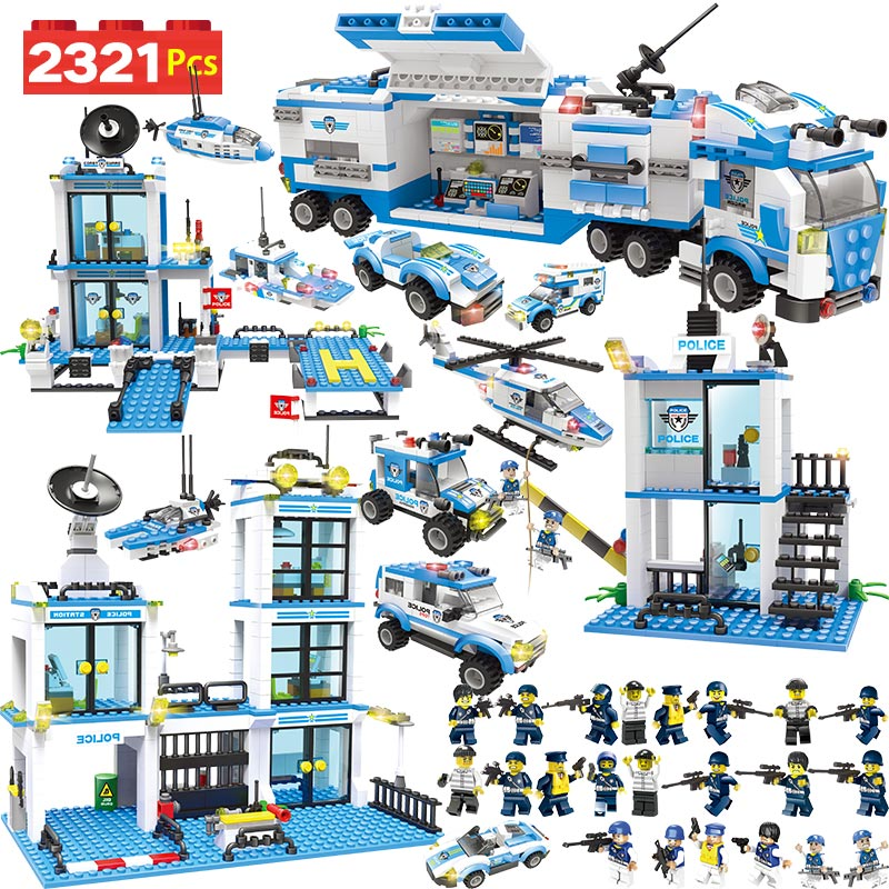 Anti-Terror-Action Modell Bausteine City Polizei Station Büro Lkw Serie Set Kompatibel LegoINGLYS Kinder Spielzeug