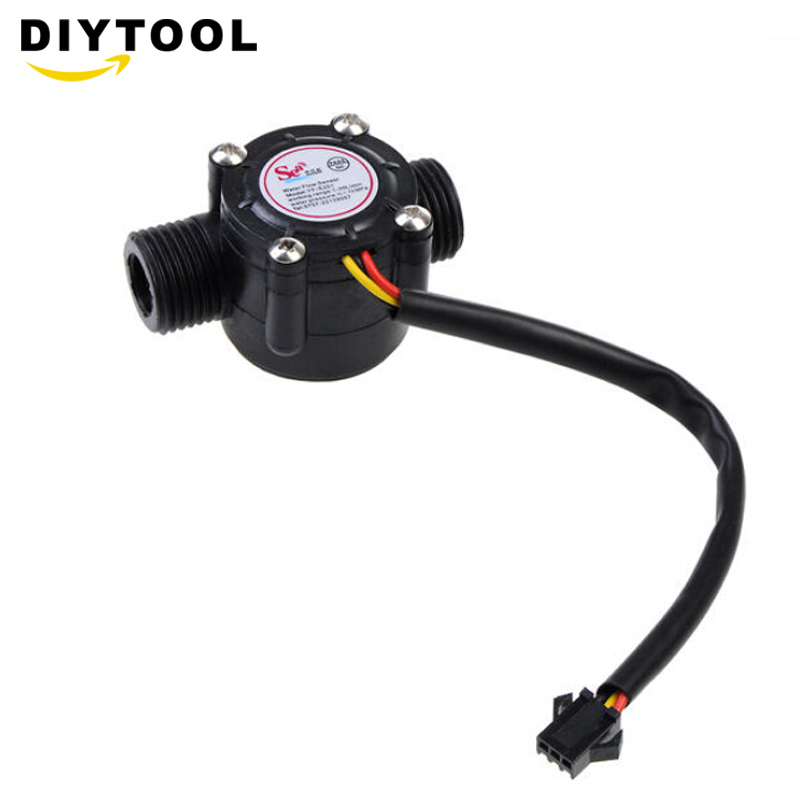 """1-30l/min Wasser Flow Sensor Durchflussmesser Halle Fluss Sensor Wasser Control 1/2 """"2.0mpa Für Wasser Heizungen Wasser Automaten Maschinen Diy"""