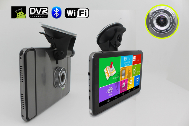 7 inch Android GPS CPU MTK8127 DDR512  with Bluetooth Wifi FM and 150 degree DVR camera