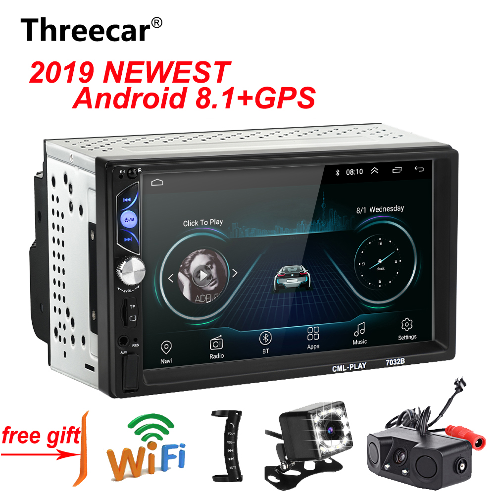 2 Din 7'' Android Car Radio Stereo GPS Navigation WIFI Bluetooth USB SD Touch Car Multimedia Player Audio Player Autoradio image