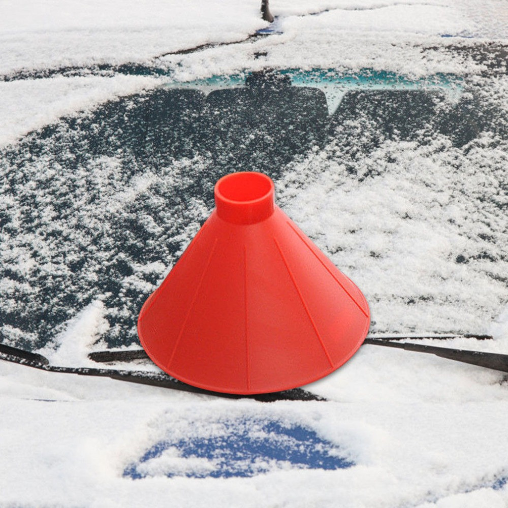 Ice Scrapers Magic Funnel Car Snow Removal Shovel Tool,Round Windshield  Cone-Shaped Ice Scraper Winter