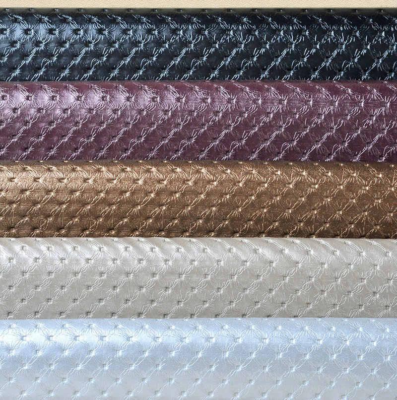 Matériel imperméable en cuir de Pvc de 50x135 cm, tissu automobile en cuir d'eco, tissu d'ameublement de siège de costura Tela Para Mueble Chuteiras