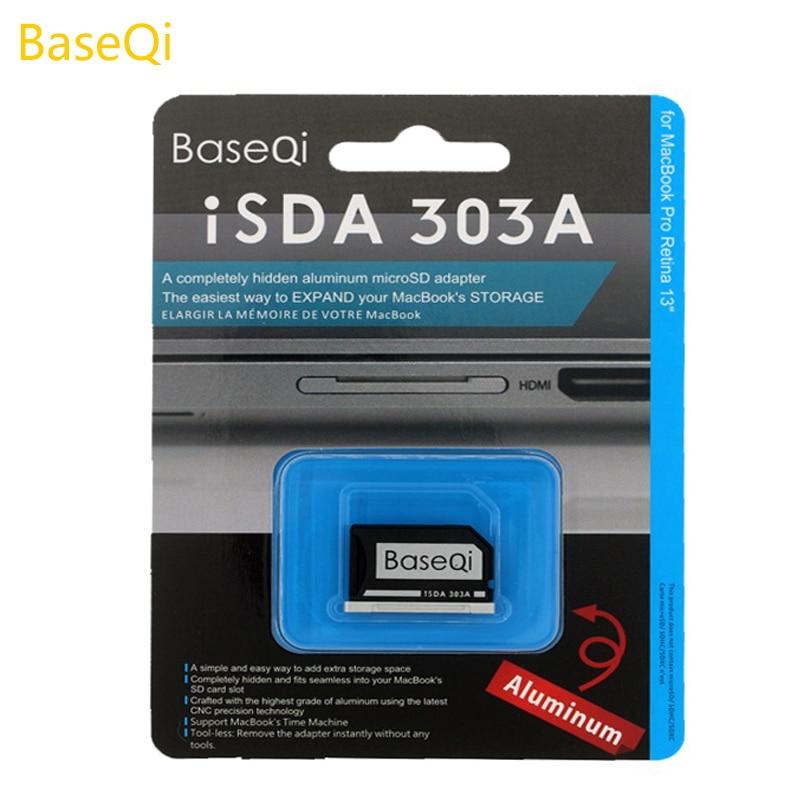 BaseQi de aluminio Micro SD/TF tarjeta de adaptador para MacBook Pro Retina 13