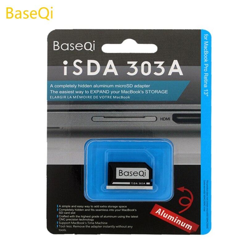 BaseQi de aluminio Micro SD/TF tarjeta de adaptador para MacBook Pro Retina 13 interna lector de tarjeta