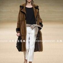 Russia classic mink  Wholesale Natural furs women's fur coats vintage fur vest Warm mink fur coat Down Jackets mink coat women.