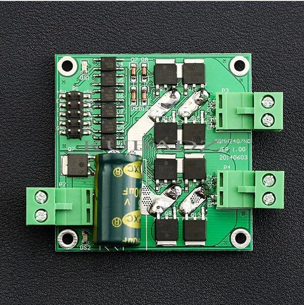 7A 160W Dual DC Motor Driver Module Board  PWM Speed  H-bridge L298 logic