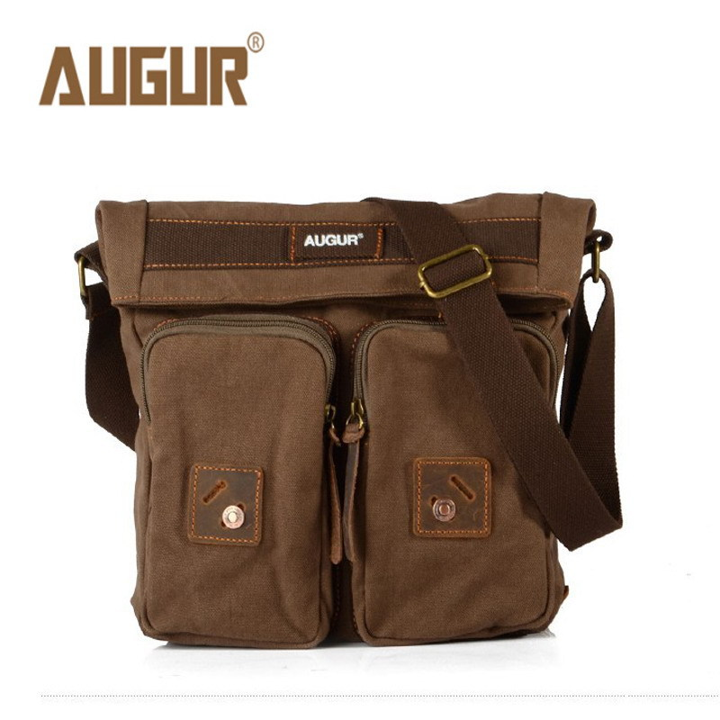 AUGUR 2018 Fashion Men Shoulder Bag male High quality Small Crossbody Bags Travel Satchel Bag Vintage Canvas Shoulder Bags augur new men crossbody bag male vintage canvas men s shoulder bag military style high quality messenger bag casual travelling