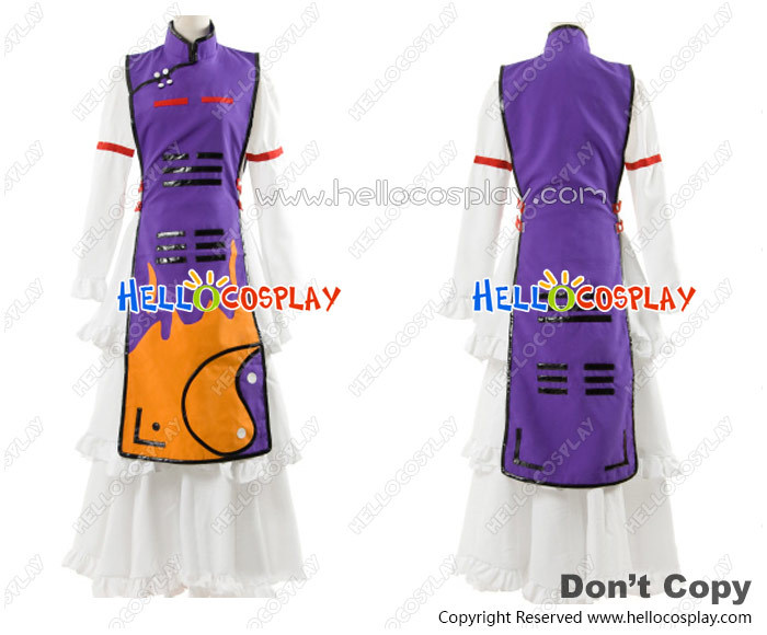 Touhou Project Cosplay Yukari Yakumo Purple Dress Costume H008