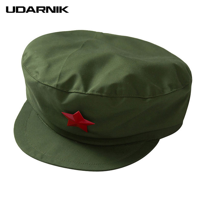 1949 Chinese Red Army Hat Soldier Military Cap Unisex Costume Accessory Five-pointed Star 043-331