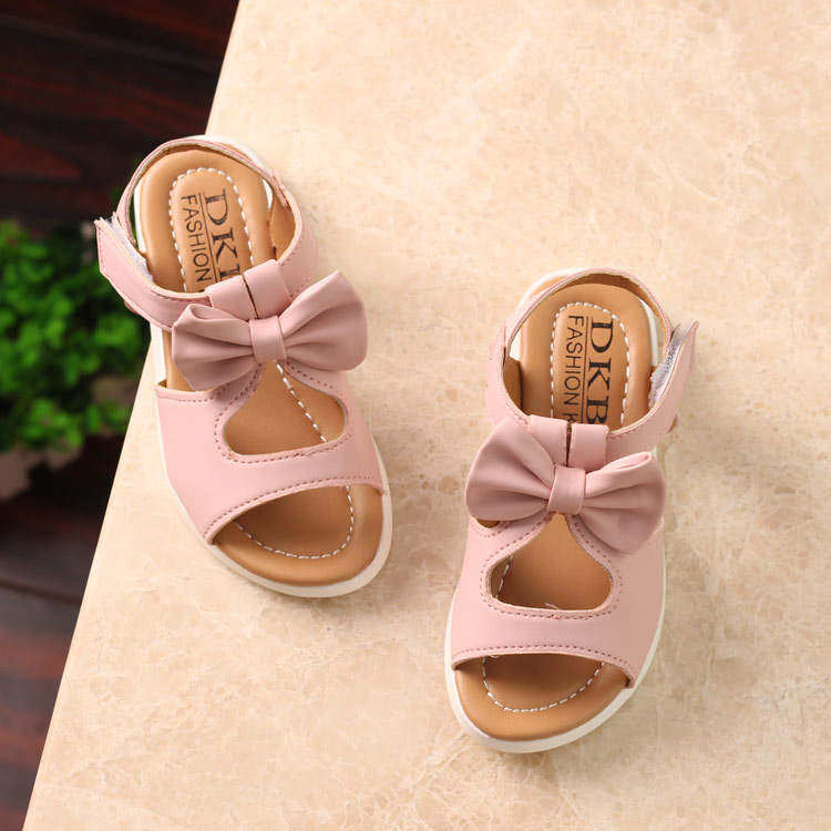 2018 New Summer Children Sandals For Girls Genuine Leather Princess Shoes Kids Beach Sandals Baby Toddler Shoes White