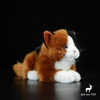 Cats Plush Doll Animal Toy Real Life Lying Cat Dolls Toys Christmas Gifts For Girls