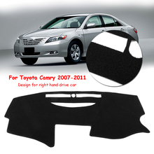 Dashmat Car Dash Carpet Mat Dashboard Sun Cover for Toyota Camry 2007-2011 RHD Protects UV Rays Eliminates Crack Dissipate Heat