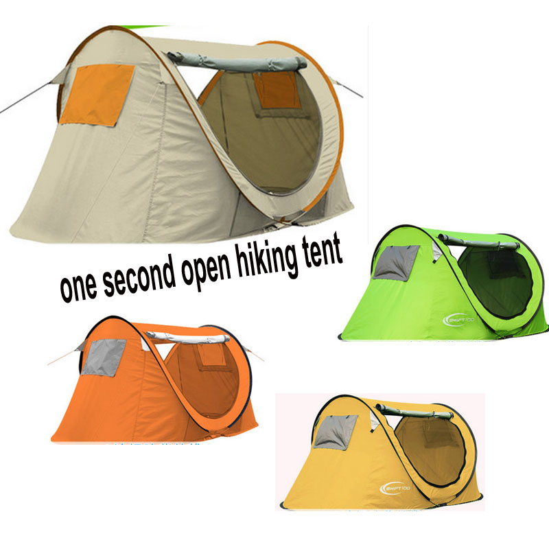 2016 quality automatic camping tent one second open 1-2 people tent for hiking camping outdoor camping hiking automatic camping tent 4person double layer family tent sun shelter gazebo beach tent awning tourist tent